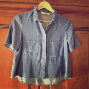 Zara Soft Denim Shirt, New without Tags, S Small
